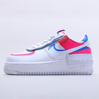 "Wmns Air Force 1 Shadow ""Cotton Candy"" CU3012 111 AF1 White Blue Pink Running Shoes"