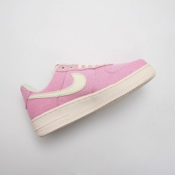 Nike Air Force 1 Pink/White Running Shoes AH8462 005 AF1 WMNS Sneakers