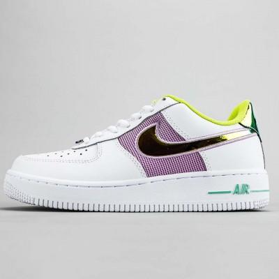"Nike Air Force 1 '07 ""White/Multi"" WMNS Running Shoes White/Lemon Venom/Electro Green/Multi-Color CW5592 100 Sneakers"