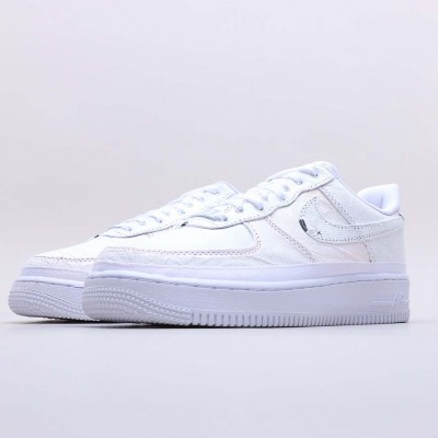 "Nike Air Force 1 LX ""Reveal"" White Running Shoes Unisex CJ1650 100 AF1 Sneakers"