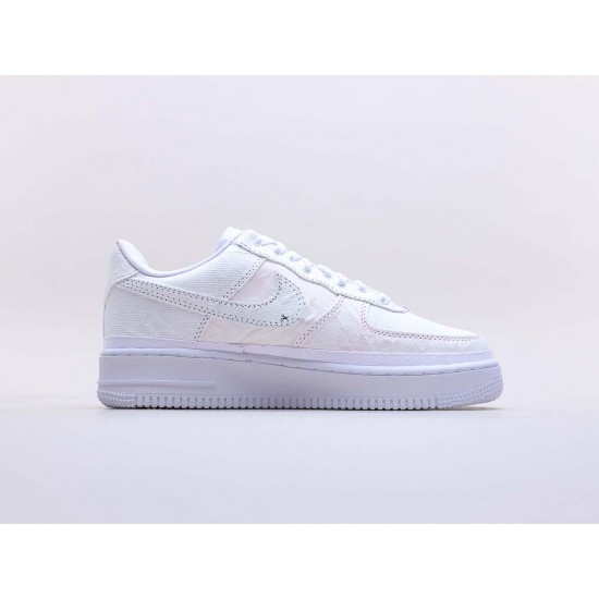 """Nike Air Force 1 LX """"Reveal"""" White Running Shoes Unisex CJ1650 100 AF1 Sneakers"""