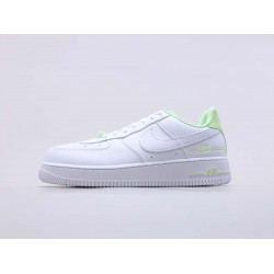 """Nike Air Force 1 Low """"Double Air"""" Low White Barely Volt CJ1379 101 Unisex AF1 Running Shoes"""