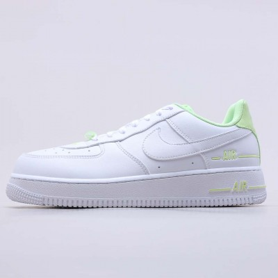 "Nike Air Force 1 Low ""Double Air"" Low White Barely Volt CJ1379 101 Unisex AF1 Running Shoes"