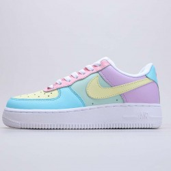 """Nike Air Force 1 Low """"Easter Eggs"""" Multi/White Running Shoes CT3359 001 Unisex AF1 Sneakers"""