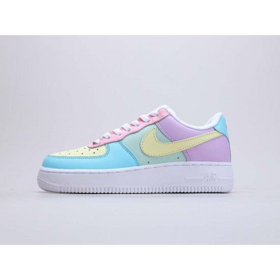 "Nike Air Force 1 Low ""Easter Eggs"" Multi/White Running Shoes CT3359 001 Unisex AF1 Sneakers"