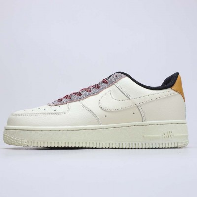 """Nike Air Force 1 Low """"Fossil Gream"""" Fossil/Wheat-Shimmer-Fossil Running Shoes CK4363 200 Unisex AF1 Sneakers"""