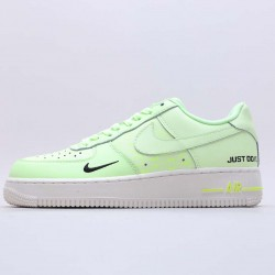 "Nike Air Force 1 Low ""Just Do It"" Green/White Running Shoes CT2541 700 Unisex AF1 Sneakers"