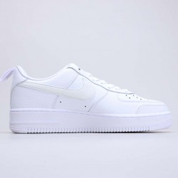 """Nike Air Force 1 """"Utility White"""" White/Black Fog/Midnight Navy/White Running Shoes CV3039 100 Unisex AF1 Sneakers"""