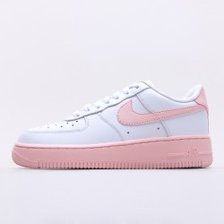 "Nike WMNS Air Force 1 Low "" White Pink Foam"" Running Shoes CV7663 100 Womens Sneakers"