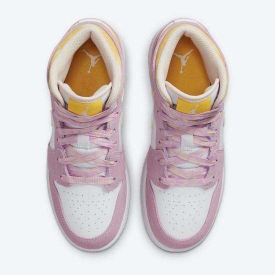 Air Jordan 1 Mid SE GS Arctic Pink DC9517 600 WMNS AJ1 Light Arctic Pink University Gold-White Jordan Sneakers