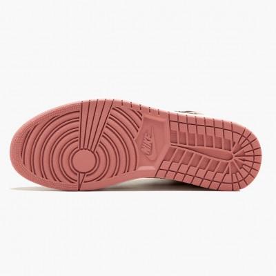 """Air Jordan 1 Retro High """"Rust Pink"""" Unisex 861428 101 Pink Black Jordan Sneakers"""