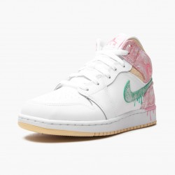 Air Jordan 1 Mid SE GS Ice Cream DD1666-100 Womens Jordan Sneakers