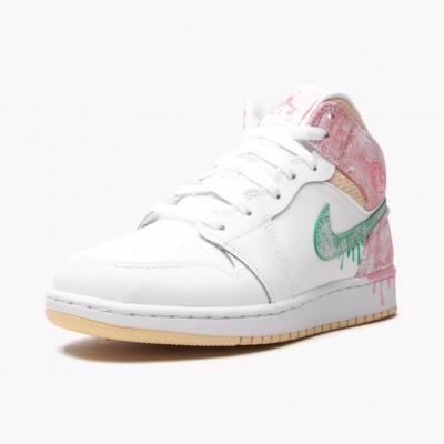 Air Jordan 1 Mid SE GS Ice Cream DD1666-100 Womens Jordan Sneakers