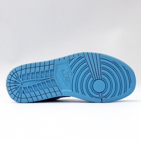"Nike Air Jordan 1 Low ""UNC"" Blue/White Basketball Shoes AO9944 441 Unisex AJ1 Jordan Sneakers"