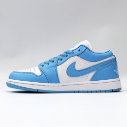 "Nike Air Jordan 1 Low ""UNC"" Blue/White Basketball Shoes AO9944 441 Unisex AJ1 Jordan Sneakers"