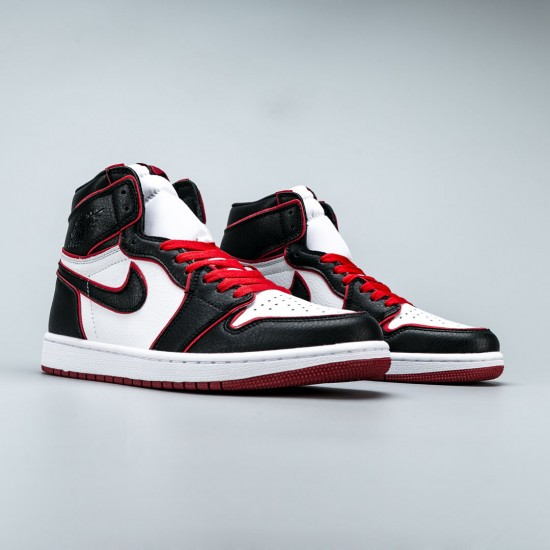 "Nike Air Jordan 1 Retro High ""Bloodline"" Black/Red/White Basketball Shoes 555088 062 Jordan Sneakers"