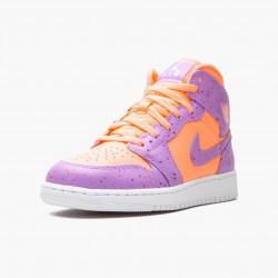 2020 Nike Air Jordan 1 Mid GS Atomic Pulse Basketball Shoes AV5174 800 Womens AJ1 Purple Orange Sneakers