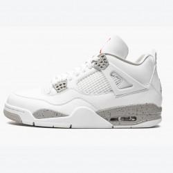 "Air Jordan 4 Retro ""White Oreo (2021)"" CT8527 100 White/Tech Grey-Black-Fire Red Unisex Jordan Sneakers"
