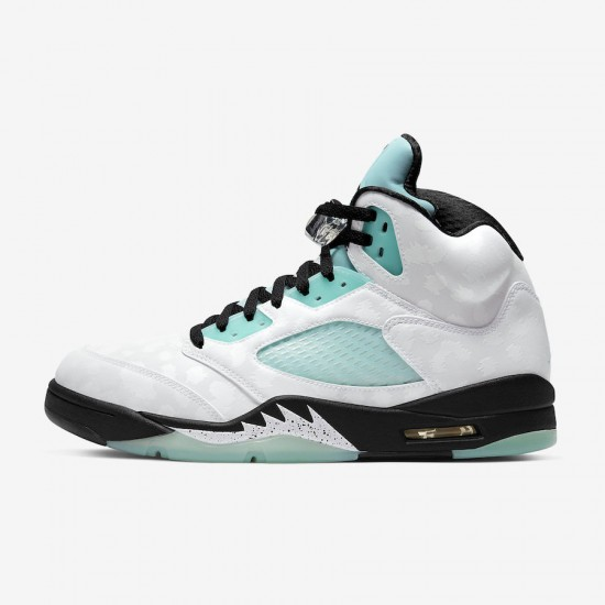 "Nike Air Jordan 5 Retro ""Island Green"" Basketball Shoes CN2932 100 AJ5 Unisex Sneakers"