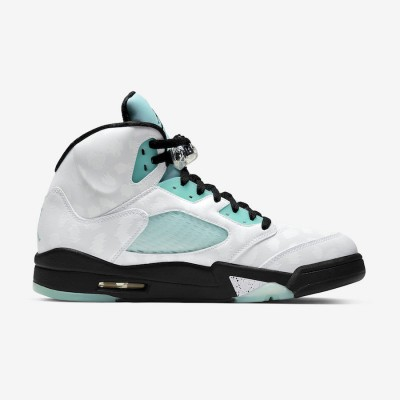 "Nike Air Jordan 5 Retro ""Island Green"" Basketball Shoes CN2932 100 AJ5 Unisex Sneakers"