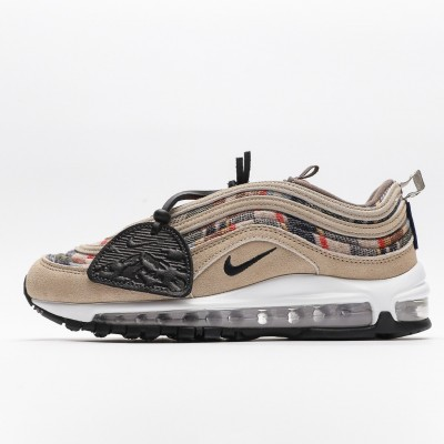 Nike Wmns Air Max 97 Red Black White Womens Running Shoes