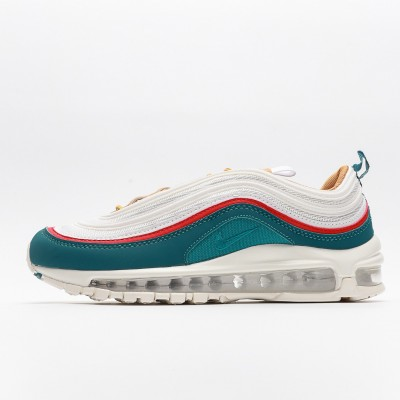 Nike Wmns Air Max 97 Teal Red Beige Mens Running Shoes