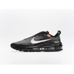 Off-White x Nike Air Max 97 Black White AJ4585-001 Mens Running Shoes