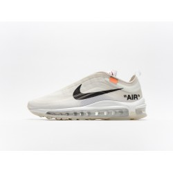 Off-White x Nike Air Max 97 The Ten Black Beige AJ4585-100 Mens Running Shoes