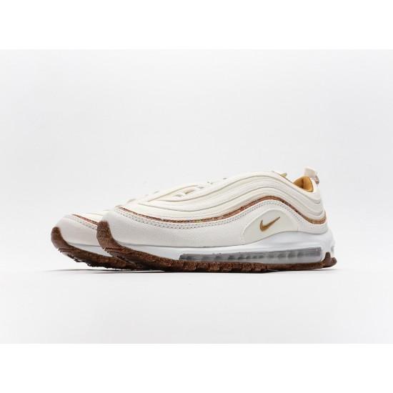 Nike Wmns Air Max 97 Cork Beige White Brown Mens DC4012-100 Running Shoes