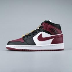 2020 Nike Air Jordan 1 MID Fearless Black Red Sneakers CZ4385 016 Unisex Basketball Shoes