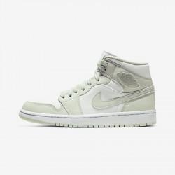2020 Nike Air Jordan 1 Mid Spruce Aura Basketball Shoes CV5280 103 AJ1 Unisex Sneakers