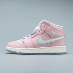 2020 Nike Air Jordan 1 Ret Hi Prem Womens Pink Basketball Shoes 555112 600 AJ1 Sneakers