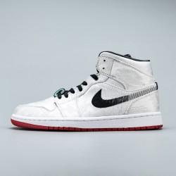 2020 Nike Edison Chen x Air Jordan 1 Mid SE Fearless Mens Basketball Shoes CU2804 100 Sneakers