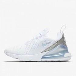 2020 Nike React Air Max 270 White Silver Running Shoes CD8497 100 Unisex Sneakers