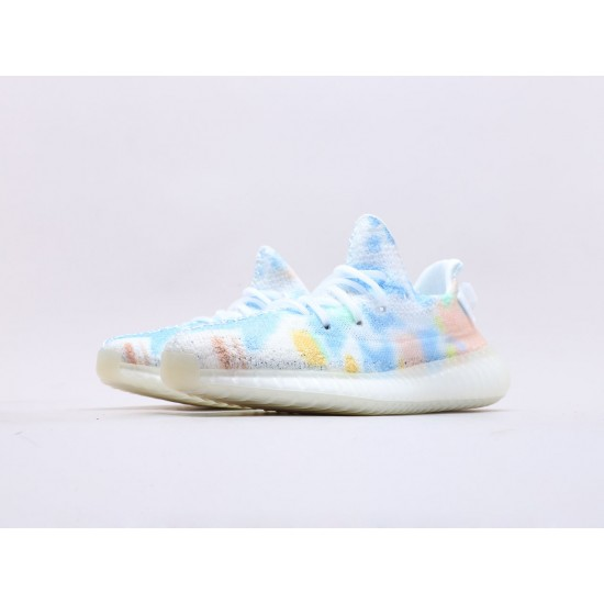 """Adidas Yeezy Boost 350 V2 """"Translucent"""" Sample White/Blue Running Shoes SU0103 Unisex Sneakers"""
