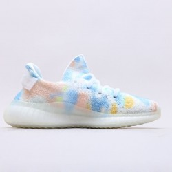 "Adidas Yeezy Boost 350 V2 ""Translucent"" Sample White/Blue Running Shoes SU0103 Unisex Sneakers"