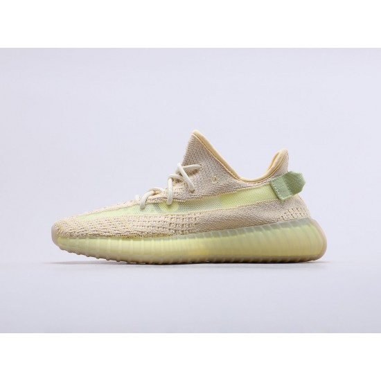 "Adidas Yeezy Boost 350 V2 ""Flax"" Running Shoes FX9028 Unisex Sneakers"