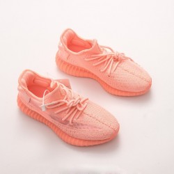 "Adidas Yeezy Boost 350 V2 ""Orange Powder"" EG5294 Pink Running Shoes Womens Sneakers"