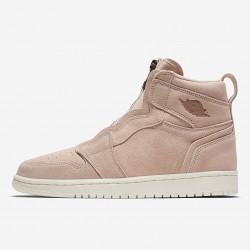"""2020 Nike Air Jordan 1 High Zip """"Particle Beige"""" Basketball Shoes AQ3742-205 Particle Beige AJ1 Sneakers"""