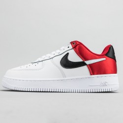 NBA x Air Force 1 '07 LV8 'Red' Running Shoes White/Red BQ4420-600 AF1 Sneakers