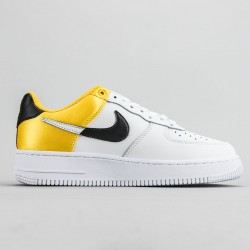 """Nba X Air Force 1 """"Amarillo"""" White/Yellow Running Shoes AF1 BQ4420-700 Sneakers"""