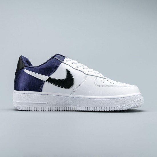 """Nike Air Force 1 Nba Available """"Navy Satin"""" White Blue Running Shoes AF1 Unisex Sneakers BQ4420-400"""