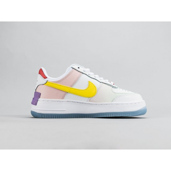 """Nike Air Force 1 Shadow """"White Hydrogen Blue"""" Running Shoes Womens AF1 Sneakers CW2630 141"""