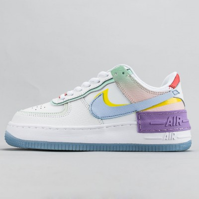 "Nike Air Force 1 Shadow ""White Hydrogen Blue"" Running Shoes Womens AF1 Sneakers CW2630 141"
