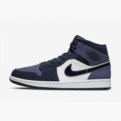 """Nike Air Jordan 1 Mid """"Sanded Purple"""" Basketball Shoes AJ1 Unisex 554724-445 Sneakers"""