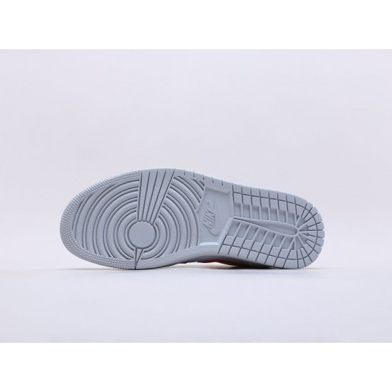 "Nike Air Jordan 1 Mid ""Starfish"" White/Orange/Gray Basketball Shoes CW7591 100 AJ1 Unisex Sneakers"