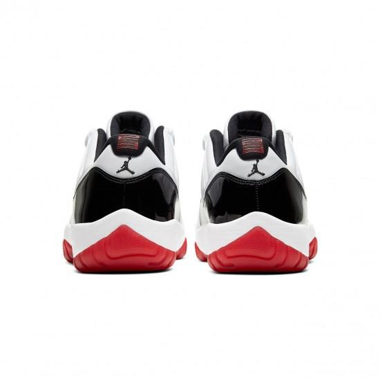 """Nike Air Jordan 11 Low """"White Bred"""" Mens Basektball Shoes AV2187 160 AJ11 Sneakers"""