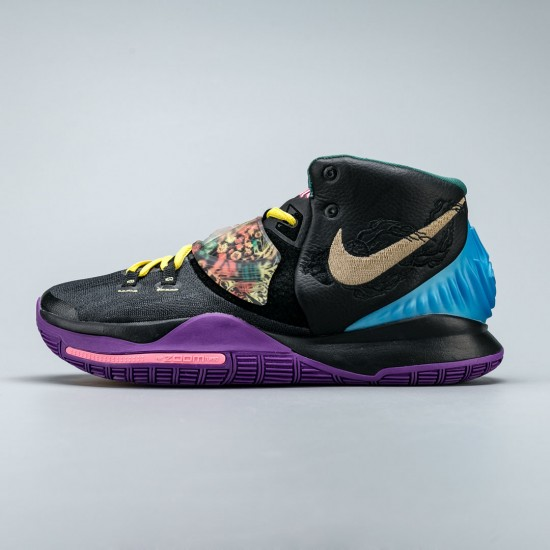"""Nike Kyrie 6 """"Chinese New Year""""  Black Purple Gray Basketball Shoes CD5029-001 Mens Sneakers"""
