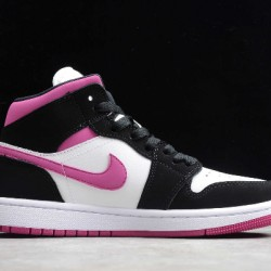 2020 Nike Air Jordan 1 Mid Basketball Shoes Black Pink-White Sneakers BQ6472-005 Unisex AJ1 Shoes