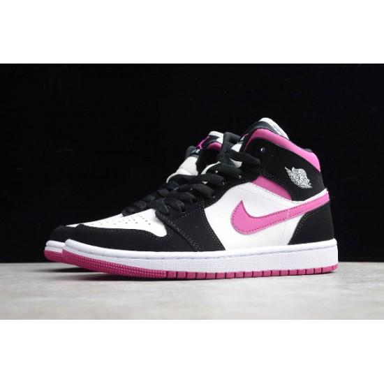 2020 Nike Air Jordan 1 Mid Basketball Shoes Black Pink-White Sneakers BQ6472-005 Unisex AJ1 Shoes